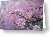Snow Blossom Greeting Card by Arlissa Vaughn
