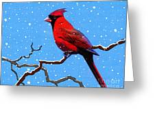 Snow Card Greeting Card by Robert Foster