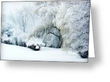 Snow Dream Greeting Card by Julie Palencia
