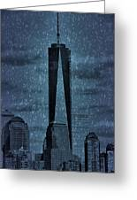 Snow In New York City Greeting Card by Dan Sproul