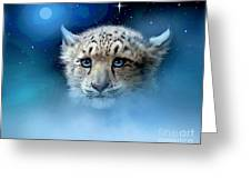 Snow Leopard Cub Greeting Card by Robert Foster