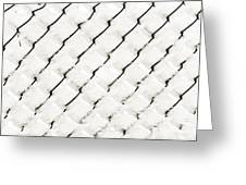 Snow Link Fence Greeting Card by Andee Design
