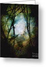 Snow Moon Embrace Greeting Card by RC DeWinter