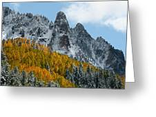 Snow On The San Juan Mountains In Autumn Greeting Card by Jetson Nguyen