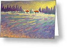 Snow Scape County Wicklow Greeting Card by John  Nolan