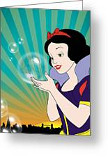 Snow White Greeting Card by Mark Ashkenazi