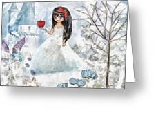 Snow White Greeting Card by Mo T
