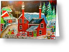 Snowball Forts Greeting Card by Michael Litvack