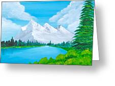 Snowcapped Mountains Greeting Card by Artistic Indian Nurse
