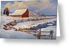 Snowed In Greeting Card by Priscilla Burgers