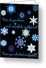 Snowflakes 2 Greeting Card by Methune Hively