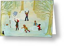 Snowmen Greeting Card by Ditz
