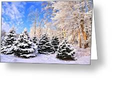 Snowy Dreams Greeting Card by Angel Cher