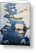 Snowy Fairytale River Greeting Card by Kiril Stanchev