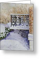 Snowy Ironwork Greeting Card by Patsy Sharpe