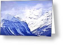 Snowy mountains Greeting Card by Elena Elisseeva