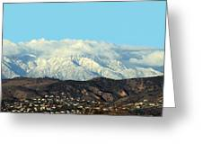 Snowy Mountains Greeting Card by Ellen Henneke