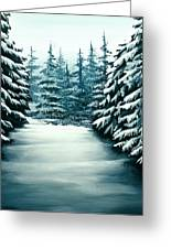 Snowy Path Greeting Card by Erin Scott