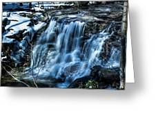 Snowy Waterfall Greeting Card by Jahred Allen