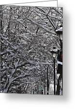Snowy Way Greeting Card by Frederico Borges