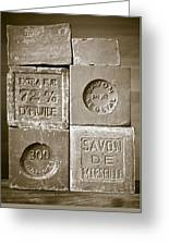 Soaps Greeting Card by Frank Tschakert