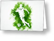 Soccer Player Greeting Card by Aged Pixel