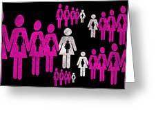 Social responsibility 1 Part 2 Greeting Card by Angelina Vick