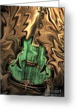 Soft Music Digital Guitar Art By Steven Langston Greeting Card by Steven Lebron Langston