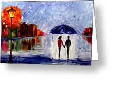 Soft Rain Greeting Card by Mariana Stauffer