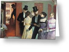 Soiree at the Opera Greeting Card by Ernest Rouart