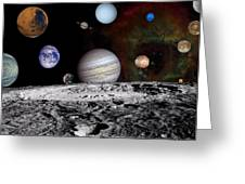 Solar System Montage Of Voyager Images Greeting Card by Movie Poster Prints