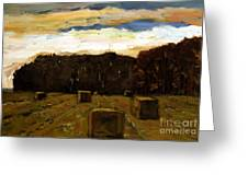 Sold Row By Row Greeting Card by Charlie Spear