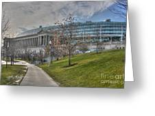 Soldier Field Renovated Greeting Card by David Bearden