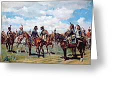 Soldiers On Horseback Greeting Card by Jean-Louis Ernest Meissonier