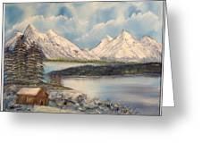 Solitude At The Lake Greeting Card by Joyce Krenson