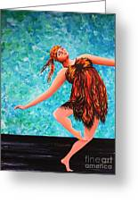 Solo Performance Greeting Card by Kaye Miller-Dewing