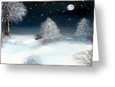 Solstice Snowfall I Greeting Card by Alys Caviness-Gober