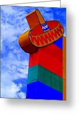 Sombrero Sign Greeting Card by Randall Weidner