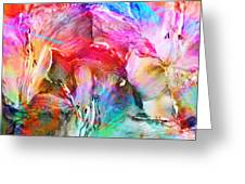 Somebody's Smiling - Abstract Art Greeting Card by Jaison Cianelli