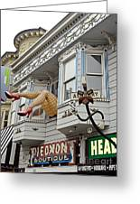 Something To Find Only The In The Haight Ashbury Greeting Card by Jim Fitzpatrick