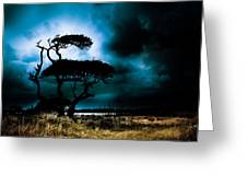 Something Wicked This Way Comes Greeting Card by Shane Holsclaw