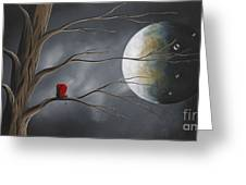 Sometimes He Just Wants To Be Alone By Shawna Erback Greeting Card by Shawna Erback