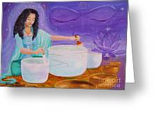Song Of Inner Peace Greeting Card by Pauline Ross