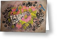 Song Of My Heart And Soul Greeting Card by Meldra Driscoll
