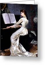 Song Without Words, Piano Player, 1880 Greeting Card by George Hamilton Barrable