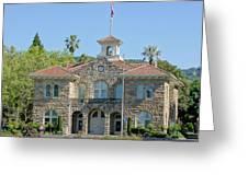 Sonoma City Hall Greeting Card by Jenny Hudson