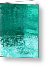 Soothing Sea - Abstract Painting Greeting Card by Linda Woods