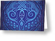 Soul Mates - Blue Greeting Card by Cristina McAllister