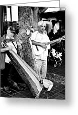 Sound Of The Streets Greeting Card by Andrew Raby