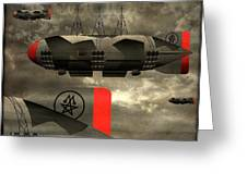 Sound Zeppelins Greeting Card by Milton Thompson